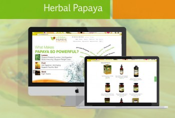 herbal papaya ecommerce app development
